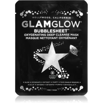 Glam Glow Bubblesheet mască textilă purificatoare, cu cărbune activ pentru o piele mai luminoasa