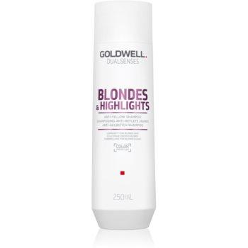 Goldwell Dualsenses Blondes & Highlights ?ampon pentru pãr blond neutralizeaza tonurile de galben imagine produs
