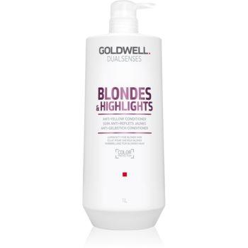 Goldwell Dualsenses Blondes & Highlights balsam pentru pãr blond neutralizeaza tonurile de galben imagine