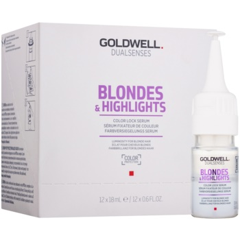 Fotografie Goldwell Dualsenses Blondes & Highlights sérum pro blond a melírované vlasy 12x18 ml