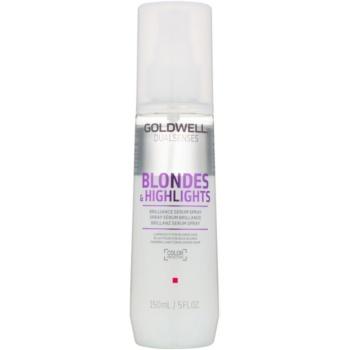 Fotografie Goldwell Dualsenses Blondes & Highlights bezoplachové sérum ve spreji pro blond a melírované vlasy 150 ml