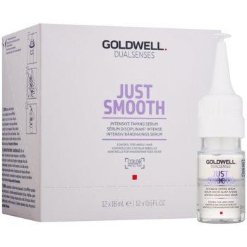 Fotografie Goldwell Dualsenses Just Smooth vyhlazující sérum pro nepoddajné a krepatějící se vlasy 12x18 ml