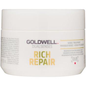 Fotografie Goldwell Dualsenses Rich Repair maska pro suché a poškozené vlasy 200 ml