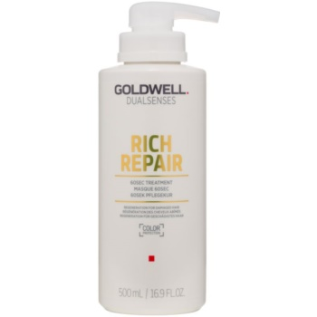 Fotografie Goldwell Dualsenses Rich Repair maska pro suché a poškozené vlasy 500 ml