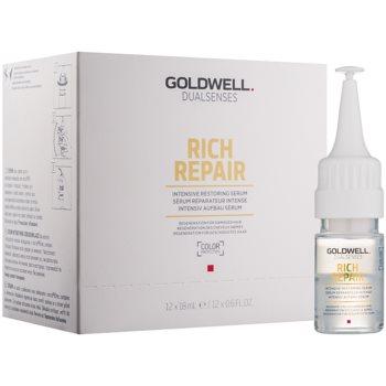 Fotografie Goldwell Dualsenses Rich Repair intenzivní obnovující sérum pro suché a poškozené vlasy 12 x 18 ml