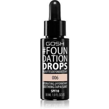 Gosh Foundation Drops make-up sub formă de picături SPF 10