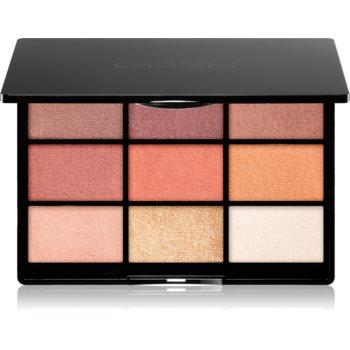 Gosh 9 Shades Palette paleta farduri de ochi cu oglinda mica