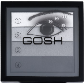 Fotografie Gosh Smokey paleta očních stínů odstín 01 Black 8 g