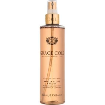 Fotografie Grace Cole Boutique Vanilla Blush & Peony osvěžující tělový sprej 250 ml