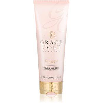 Grace Cole Vanilla Blush & Peony exfoliant pentru corp cu efect de iluminare poza