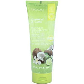 Grace Cole Fruit Works Coconut & Lime освежаващ пилинг за тяло
