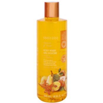 Grace Cole Fruit Works Peach & Pear osviežujúci sprchový gél bez parabénov