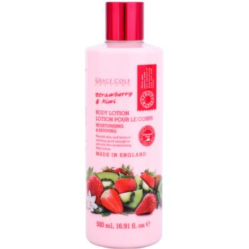Grace Cole Fruit Works Strawberry & Kiwi hydratisierende Körpermilch ohne Parabene