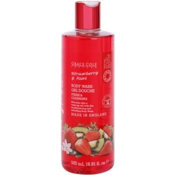 Grace Cole Fruit Works Strawberry & Kiwi osvěžující sprchový gel bez parabenů