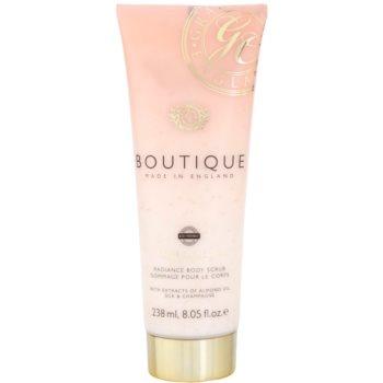 Grace Cole Boutique Vanilla Blush & Peony exfoliant pentru corp cu efect de iluminare