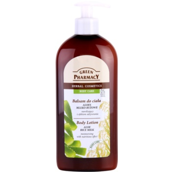 Green Pharmacy Body Care Aloe & Rice Milk хидратиращо мляко за тяло с подхранващ ефект