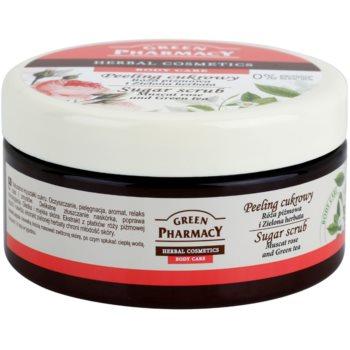 Green Pharmacy Body Care Muscat Rose & Green Tea захарен пилинг 1