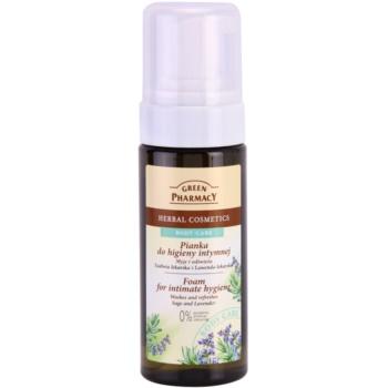 Green Pharmacy Body Care Sage & Lavender spuma pentru igiena intima