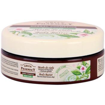 Green Pharmacy Body Care Tea Tree & Green Clay масло за тяло 1