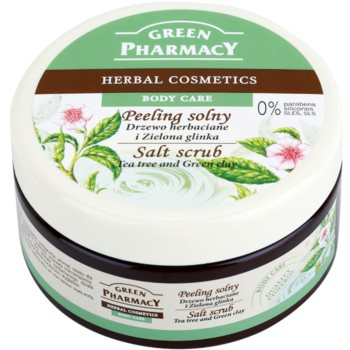 Green Pharmacy Body Care Tea Tree & Green Clay Salz-Peeling