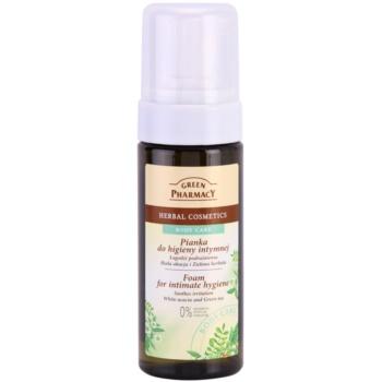 Green Pharmacy Body Care White Acacia & Green Tea пінка  для інтимної гігієни