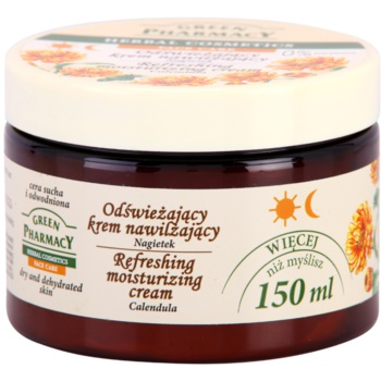 Green Pharmacy Face Care Calendula creme hidratante refrescante para pele seca desidratada 1