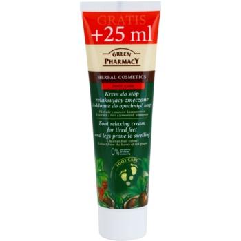 Green Pharmacy Foot Care crema pentru relaxarea picioarelor obosite si a celor predispuse la umflare  100 ml