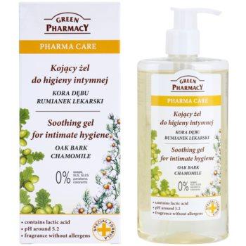 Green Pharmacy Pharma Care Oak Bark Chamomile beruhigendes Gel für die intime Hygiene 1