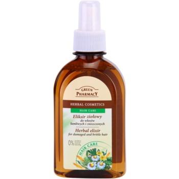 Green Pharmacy Hair Care еліксир на основі трав для пошкодженого та ламкого волосся