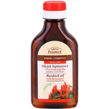 Green Pharmacy Hair Care Red Peppers Ulei din brusture pentru stimularea cresterii parului