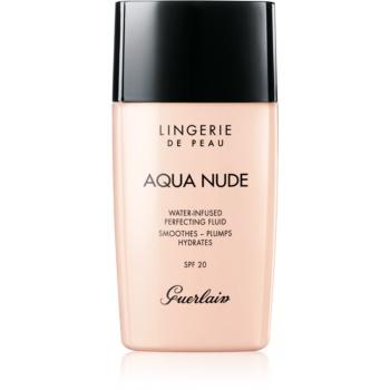 guerlain lingerie de peau aqua nude machiaj ușor de hidratare spf 20