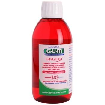 G.U.M Gingidex 0,12% Apa de gura impotriva placii dentare si a gingivitei. fara alcool  300 ml