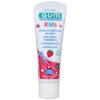 G.U.M Kids Gel pentru dintii copiilor cu aroma de capsuni  50 ml