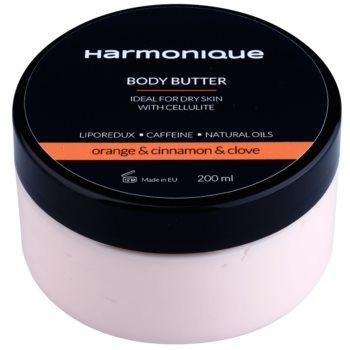 Harmonique Orange & Cinnamon & Clove unt  pentru corp anti celulita