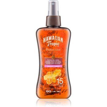 hawaiian tropic protective ulei de protectie impermeabil uscat bronzat spf15