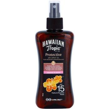 Hawaiian Tropic Protective ulei de protectie impermeabil uscat bronzat SPF 15