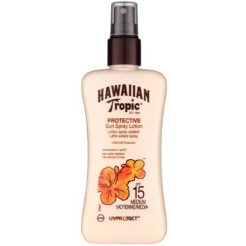 Hawaiian Tropic Protective lapte de corp pentru soare rezistent la apa SPF 15