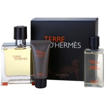 Hermès Terre d'Hermes dárková sada VIII. parfém 75 ml + balzám po holení 15 ml + sprchový gel 40 ml