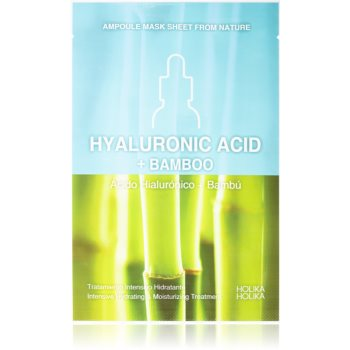 Holika Holika Ampoule Mask Sheet From Nature Hyaluronic Acid + Bamboo masca de celule cu efect hidrantant si hranitor imagine produs