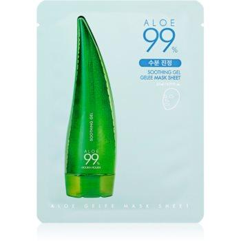 Holika Holika Aloe 99% masca gel pentru piele sensibila si inrosita imagine produs