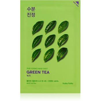 Holika Holika Pure Essence Green Tea mascã textilã de îngrijire pentru piele sensibila si inrosita imagine produs