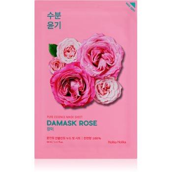 Holika Holika Pure Essence Damask Rose Masca hidratanta cu efect revitalizant sub forma de foaie imagine produs