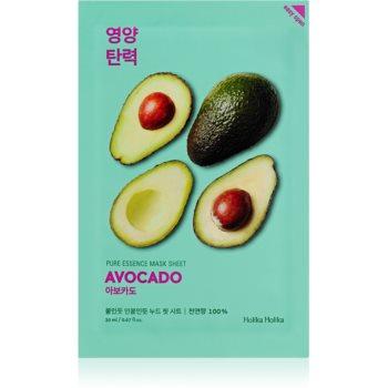 Holika Holika Pure Essence Avocado mascã textilã calmantã imagine produs