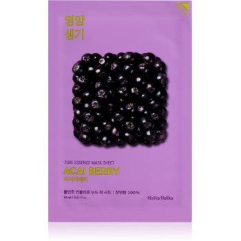 Holika Holika Pure Essence Acai Berry mascã textilã exfoliantã imagine produs