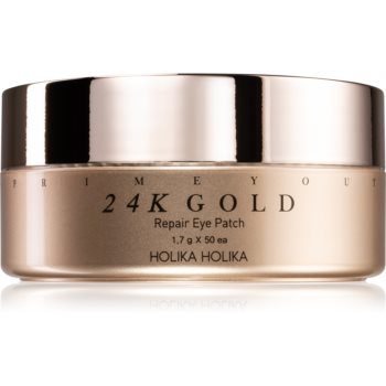 Holika Holika Prime Youth 24K Gold masca hidrogel pentru ochi cu aur de 24 de karate