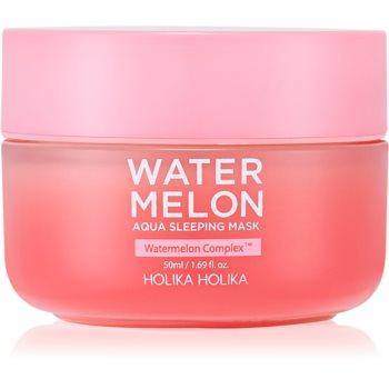 Holika Holika Watermelon Mask masca de noapte intensa pentru regenerarea rapida a pielii uscate si deshidratate