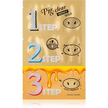 Holika Holika Pig Nose Honey Gold patch-uri de curatare a prilor de pe nas imagine produs