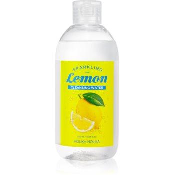 Holika Holika Sparkling Lemon Lapte demachiant pentru tenul gras și problematic cu apa termala