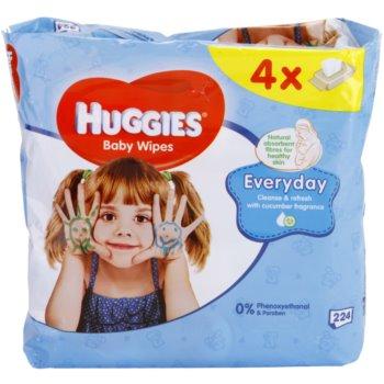 Huggies Everyday toalhitas de limpeza para rosto e mãos