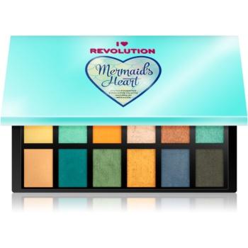 I Heart Revolution Mermaids Heart paleta farduri de ochi 12 x 0,75 g